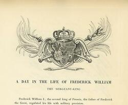 Antique King Frederick William Of Prussia Heraldry Crest Shield Crown Old Print