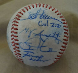 2005-06 Fresno Grizzlies Team Signed Pcl Baseball Linden Turner Sf Giants Lewis