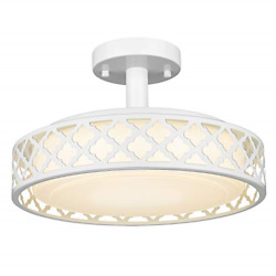 Vicnie 14inch Semi Flush Mount, Dimmable Led Ceiling Lighting Fixtures, 20w 1400