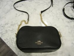 Coach Black Leather Crossbody Brand New With Gold hardware $69.99