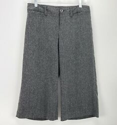 Gap Womens Gray Cropped Pants Wide Led Culottes Size Large