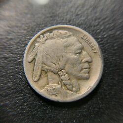 1921 S 2 Feathers Buffalo Nickel Vf Very Fine Indian Bison 5c Two Fs-401