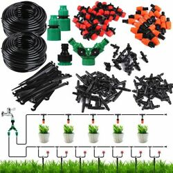 33ft 100ft Auto Drip Irrigation System Kit Timer Micro Sprinkler Garden Watering