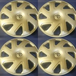 4 New 14 Inch Silver Hubcaps Wheel Covers Set For 2000 2001 2002 Toyota Corolla