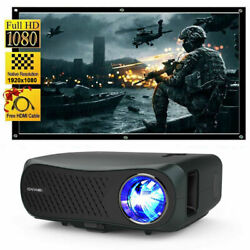8500lumens Projector Support 4k Led Home Theater Movie Game Zoom Hdmi Usb Us