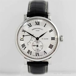 Eberhard 8 Days Grande Taille 21027.2 Hand Winding White Dial Small Second Menandrsquos
