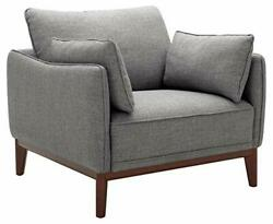 Brand – Stone And Beam Hillman Mid-century Living Room Chair With Wood Base And...