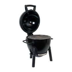 Portable Charcoal Grill Dual Dampers Adjustable Air Vents Removable Ash Catcher