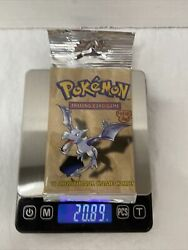 Pokemon Vintage Aerodactycl Fossil Booster Pack Factory Sealed Heavy Long Crimp