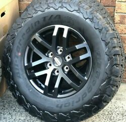 4x New Genuine Ford Ranger Raptor Black 2021 17 Wheels And Bf Goodrich At Tyres