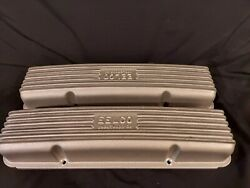 Vintage Series Eelco Small Block Chevy 327 350 Sbc Finned Aluminum Valve Covers