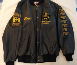 Roots 2002 Olympics Canadian Champions Leather Jacket Xxl