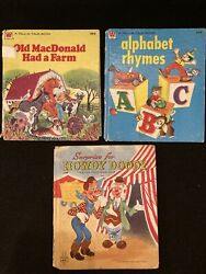 Lot Of 3 Antique Vintage Tell-a-tale Books Howdy Doody, Alphabet, Old Macdonald