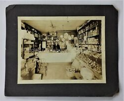 1926 Antique Baltimore Md Grocer's Shop Photograph W Advertising Signs