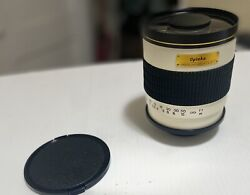 OPTEKA 500mm 1000mm f6.3 DG TELEPHOTO MIRROR LENS WITH THREADED T MOUNT GRT COND