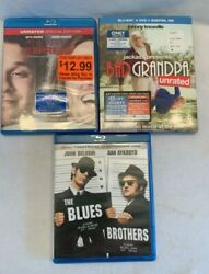 Three Blu-ray Comedies Bad Grandpa Pineapple Expressand The Blues Brothers
