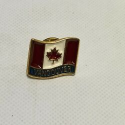 Canadian Flag Lapel Pin And Vancover Canada With Flag Hat, Tie, Or Lapel Pins