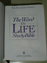 The Word In Life Study Bible-nkjv-old And New Testament-genuine Cowhide Cover