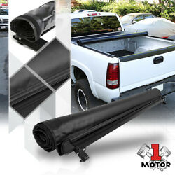 Short Bed Truck Tonneau Cover 6.1ft Soft Top Roll-up For 05-21 Nissan Frontier
