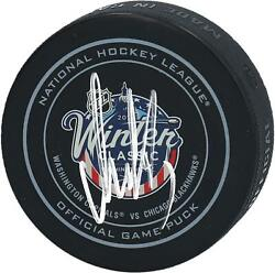 Alex Ovechkin Washington Capitals Signed 2015 Winter Classic Official Game Puck