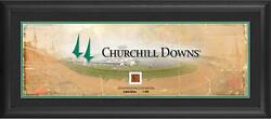 Churchill Downs Framed 10 X 30 Panoramic And Race Used Dirt From Churchill Downs