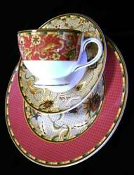Way C1997-2005 Wedgwood Persia Accent With Plate Trio Best Transcription