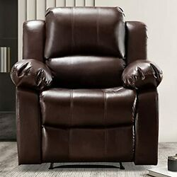 Bonzy Home Air Leather Recliner Chair Overstuffed Heavy Duty Recliner - Faux ...