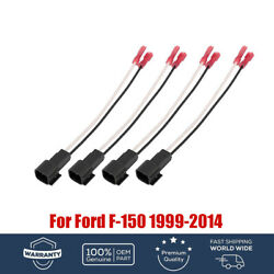 4x Front-rear Door Speaker Harness Adapters Accessories For Ford F-150 1999-2014