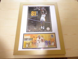 Kobe Bryant Los Angeles Lakers Nba Official Photograph Hologram And Cover Framed