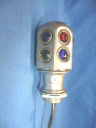Nos Dash Light Accessory With An Original 1920and039s Multi Color Jewel Cover Sct10