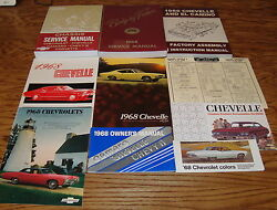 1968 Chevrolet Chevelle Shop Manual Owners Assembly Sales Brochure Lot Of 10