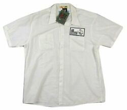 Vandals Embroidered Patch White Button Down Shirt 2xl Official Nos Giant