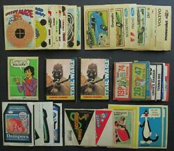 1970s Wonder Bread Sticker Lot, License, Star Wars, Wacky Packages, Crazy Cars