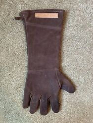 Williams Sonoma Brown 100 Leather Grilling/bbq Glove Mitt Cooking