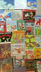 Lot Of 25 Childrens Picture Book Christmas Winter Holiday Snow Santa Jesus