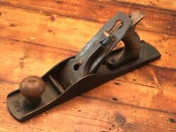 Antique Bailey Stanley Corrugated Bottom Wood Plane No. 5 Woodworking Tool