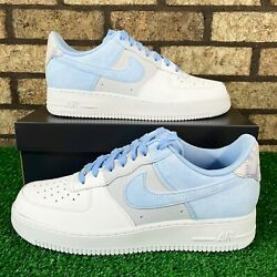 💙nike Air Force 1 '07 Lv8 Cz0337-400 'psychic Blue' Baby Blue Gradient 💙