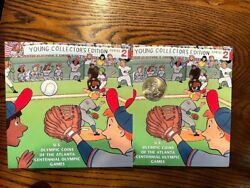 1995-s Us Baseball Olympic Coins Atlanta Games Young Collector's Edition W12