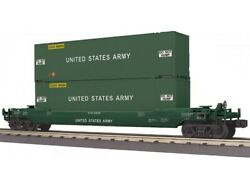 ✅mth Railking Us Army Husky Stack Car 30-76797 Double Twin United States