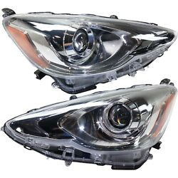 Headlight For 2015-2017 Toyota Prius C Pair Driver And Passenger Side Capa
