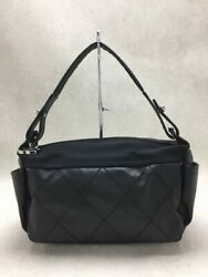 Pavlitz Small Hobo Canvas Blk Used Bag Previously Owned No.7984