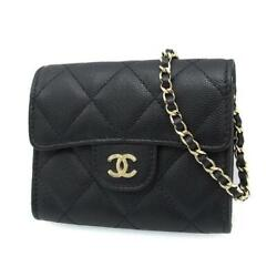 Caviar Matelasse Mini Chain Wallet A81465 Rank Previously Owned No.204