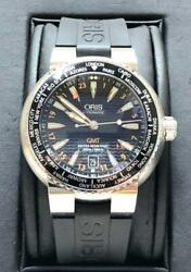 Oris Gmt World Time Back Scale Automatic Case No7608 Menand039s Watch