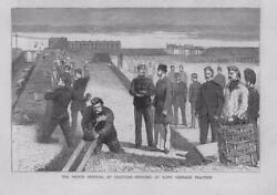 1877 Antique Print - Kent Chatham Imperial Hand Grenade Practice 106b