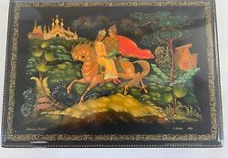Handpainted Russian Lacquer Box Signed