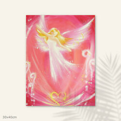 Best Friend Female Gifts Easiness- Spiritual Prints On Canvas, Guardian Angel