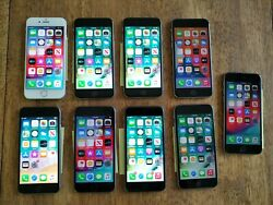 Lot Of [9] Apple Iphone 6/6s Various Carriers 16 Gb/64 Gb