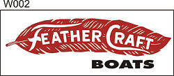 W002 Feather Craft Boat Banner Garage Shop Lake House Decor