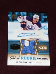2014-15 Sp Game Used Leon Draisaitl Inked Sweaters 2clr Patch 42/49 Auto Rc
