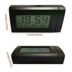 2 In 1 Led Digital Car Time Clocks Thermometer Temperatures Lcd Backlight G8y0